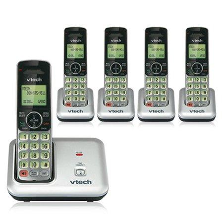 VTech CS6419 + (4)CS6409 Cordless Phone W/ Digital Answering System & Wall