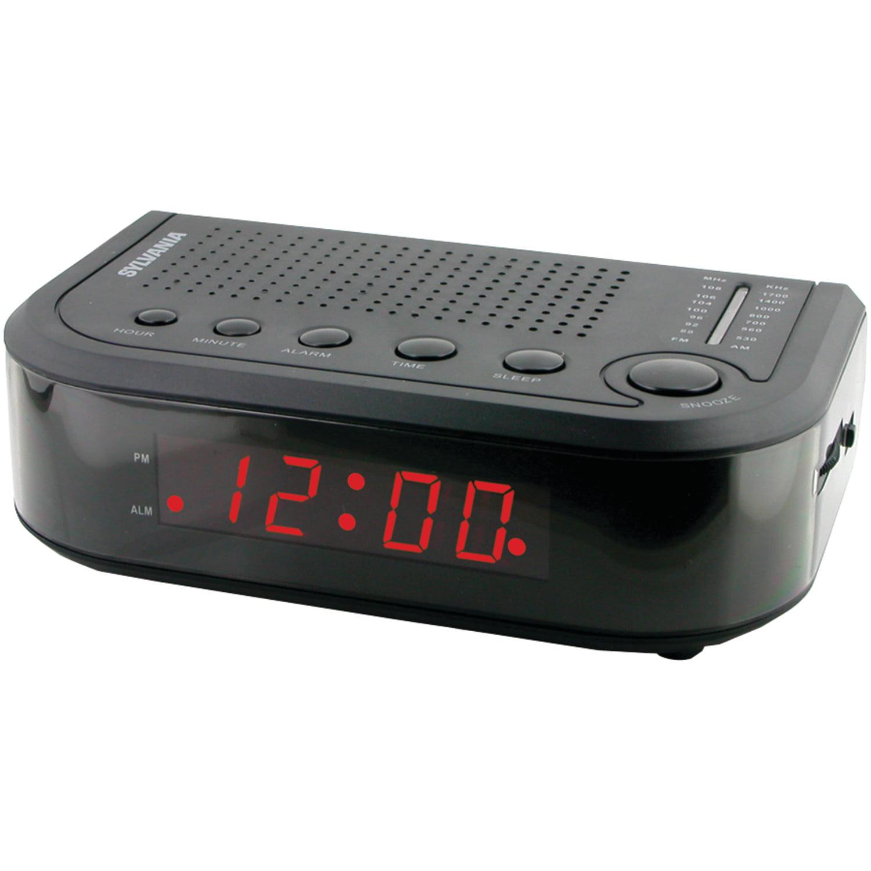 Sylvania SCR1388 AM FM Alarm Clock Radio by Sylvania
