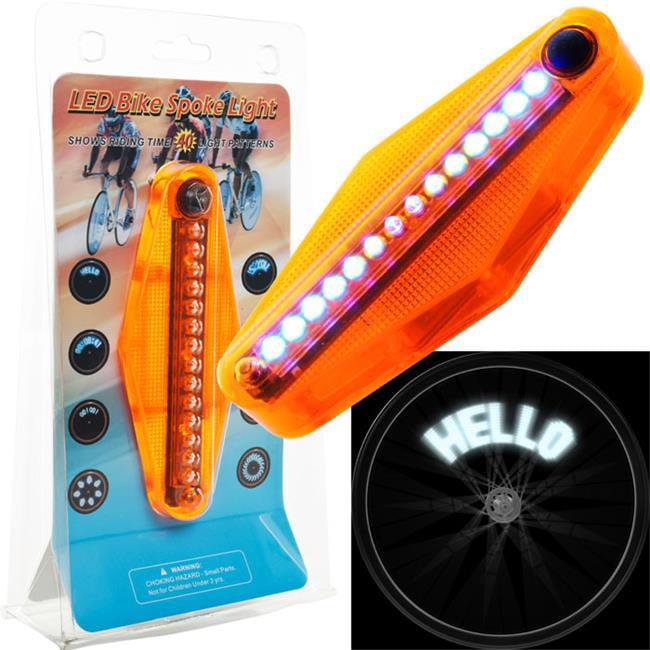 Trademark Poker 72-LT618-4 Set of 4 TGT LED Bike Spoke Message 14 LED Light