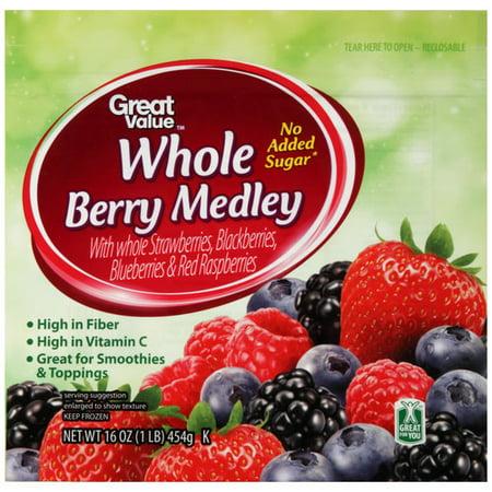 Great Value Whole Berry Medley, 16 oz - Walmart.com