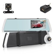 """EEEkit 4.3"""" 1080P Mirror Dash Cam for Cars with Three Lens Cam, Waterproof Backup Camera Rear View Mirror Camera, Enhanced Night Vision with Sony Sensor, Parking Assistance, G-Sensor"""