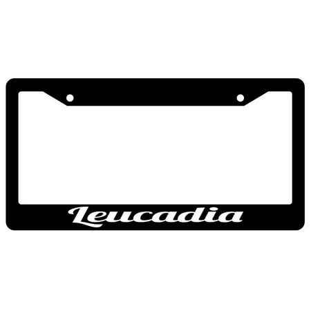 Leucadia Black Plastic License Plate Frame - Walmart.com