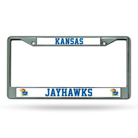 Kansas KU Jayhawks Chrome Metal License Plate Frame