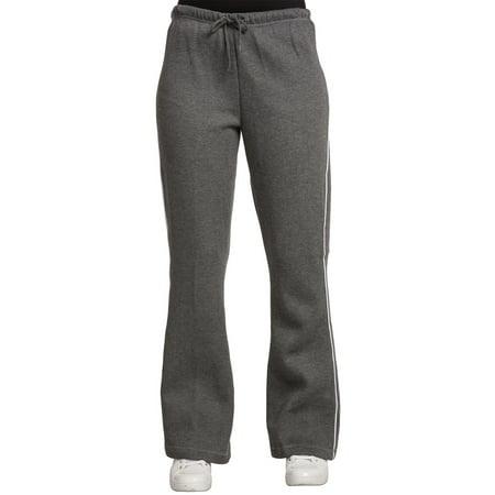 Flare Sweatpants (Sweet Vibes Womens Sweatpants Fleece Flare Contrast Piping Juniors Pants )