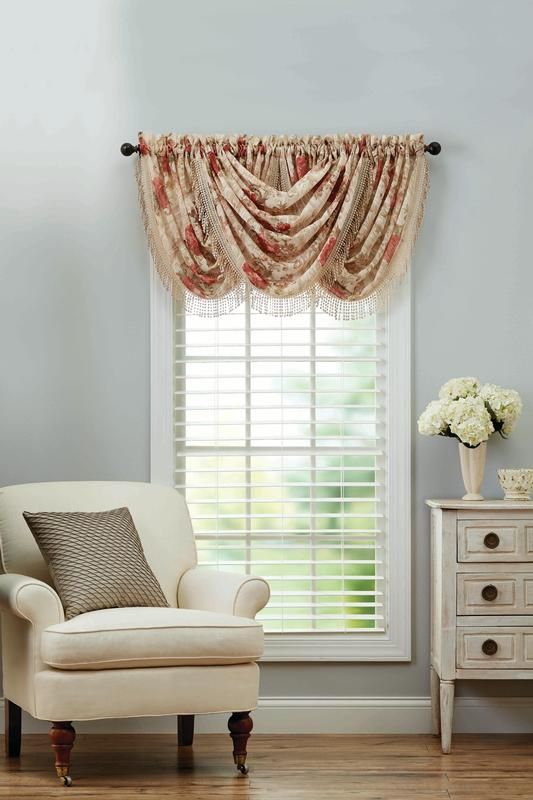 Better Homes & Gardens Roses Waterfall Valance by Keeco