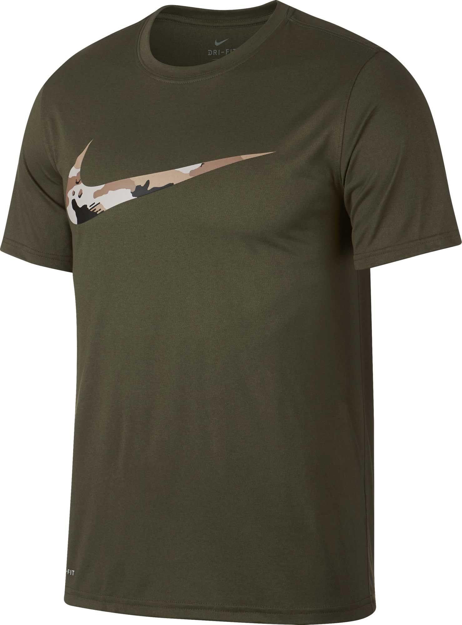 Nike Mens Dry Legend Camo Swoosh Graphic Tee