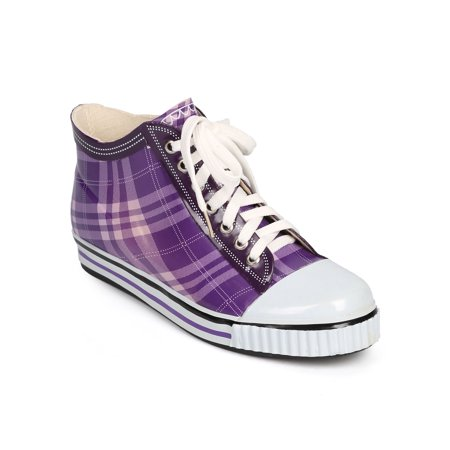 Misbehave DI72 Women Jelly Plaid Cap Toe Classic Pull On Rain - Womens Jelly