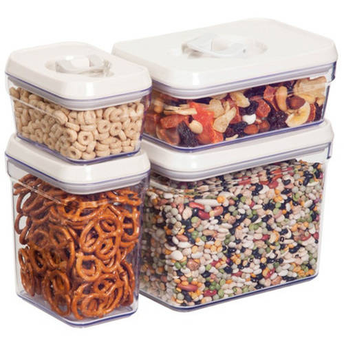 Honey Can Do BPA Free Locking Lid Storage Jars (8-Piece Set) by Honey Can Do