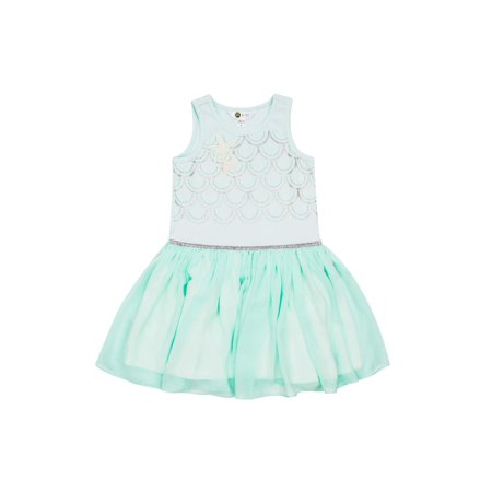 Mermaid Chiffon (Mermaid Bodice Chiffon Dress (Little Girls & Big Girls) )