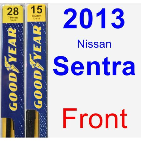 Nissan Wiper Blade (2013 Nissan Sentra Wiper Blade Set/Kit (Front) (2 Blades) - Premium )
