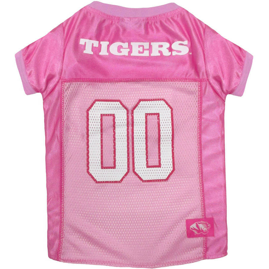 Pets First College Missouri Tigers Pet Pink Jersey, 4 Sizes Available