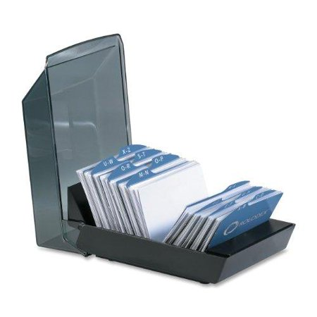 rolodex 67208 rolodex covered tray business card file 100 sleeves 200 card capacity - Business Card File