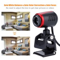 LHCER USB2.0 with MIC 16MP HD Webcam Web Camera Cam 360° for Computer PC Laptop for Skype / MSN, Laptop Camera,USB Camera