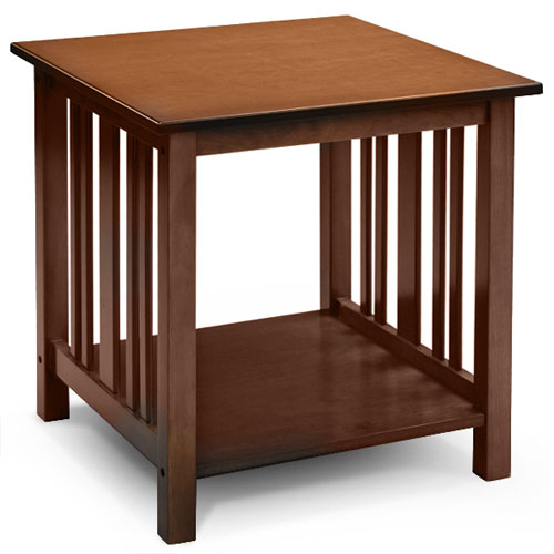 Merveilleux Mission Style End Table, Light Oak
