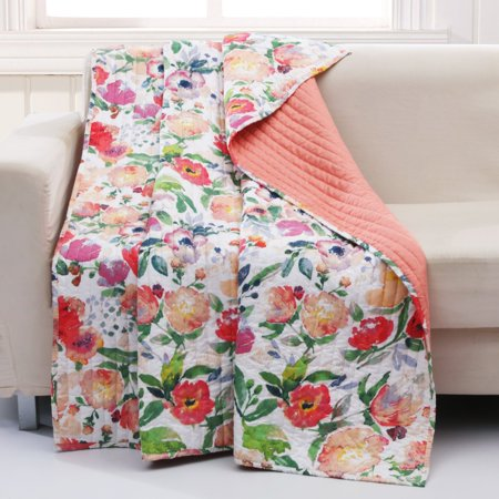 Blossom Quilted Throw by Barefoot Bungalow
