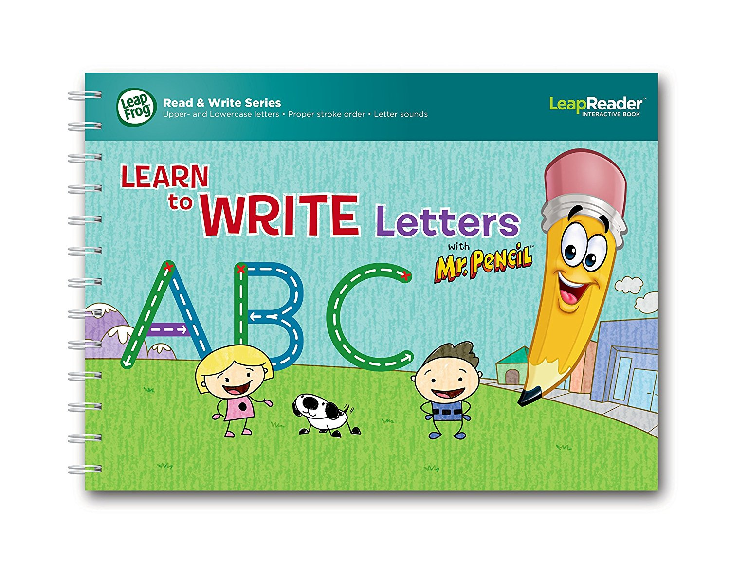 LeapFrog LeapReader Deluxe Writing Workbook: Learn to Write Letters with Mr. Pencil by