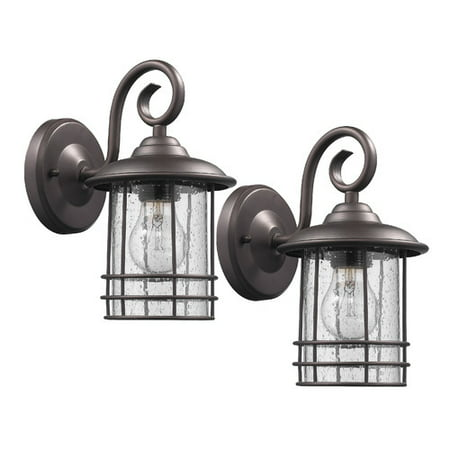 Transitional 1 Light Rubbed Bronze Outdoor Wall Sconce 10
