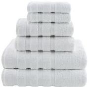 American Soft Linen 6-Piece 100% Genuine Turkish Cotton Premium & Luxury Towel Set for Bathroom & Kitchen, 2 Bath Towels, 2 Hand Towels & 2 Washcloths - Bright White