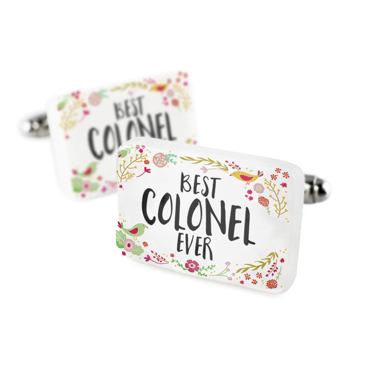 Cufflinks Happy Floral Border Colonel Porcelain Ceramic NEONBLOND
