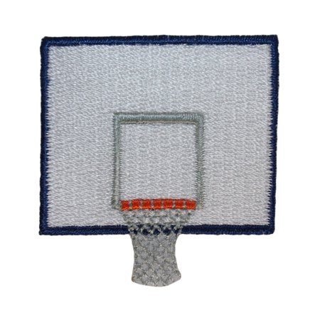 ID 1467 Basketball Back Board Patch Sport Net Ball Embroidered Iron On Applique