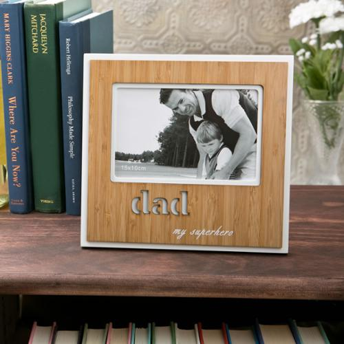 'Dad' Bamboo Picture Frame