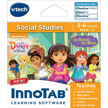 InnoTab Software, Dora and Friends, In innotab dora and friends the search for mono by vtech dora and her friends meet a little boy who has lost his toy monkey mono on.., By VTech