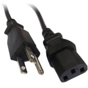 Professional Cable Standard PC Power Cord, 6', Black