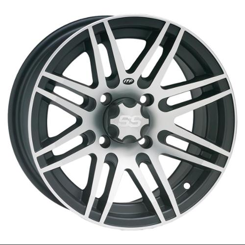 ITP SS316 Aluminum Wheel Front Or Rear 14x7 Machined W/Black Fits 06-12 Arctic Cat Prowler Models
