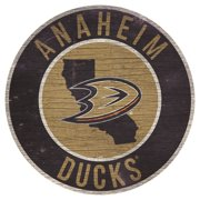 Anaheim Ducks 12'' State Circle Sign