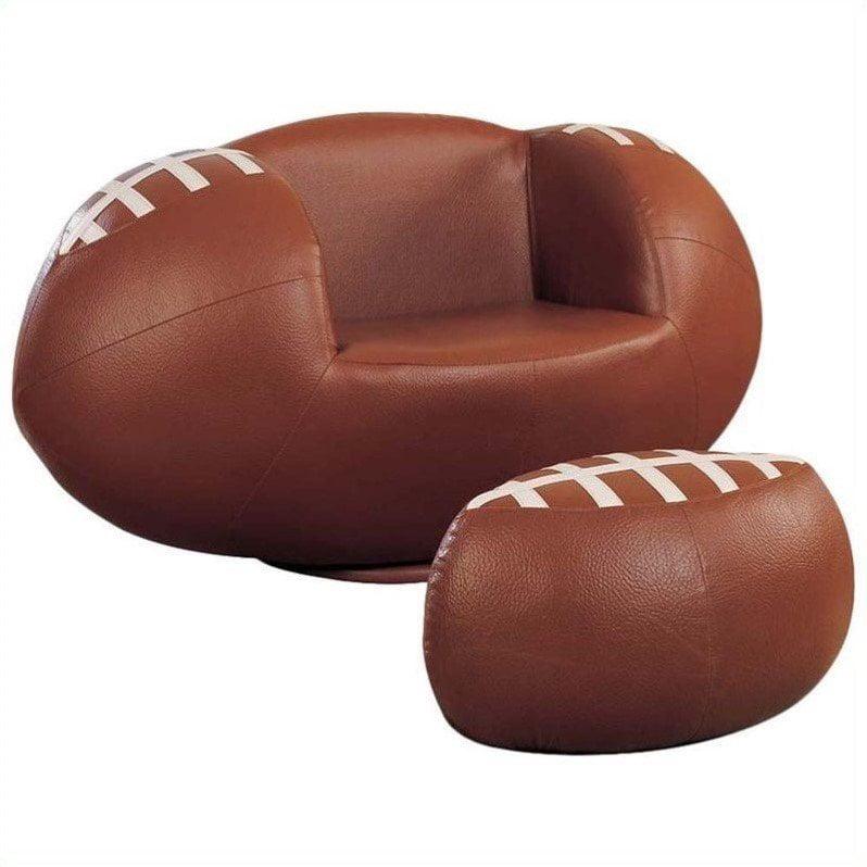 Acme All Star Football 2-Piece Chair and Ottoman Set
