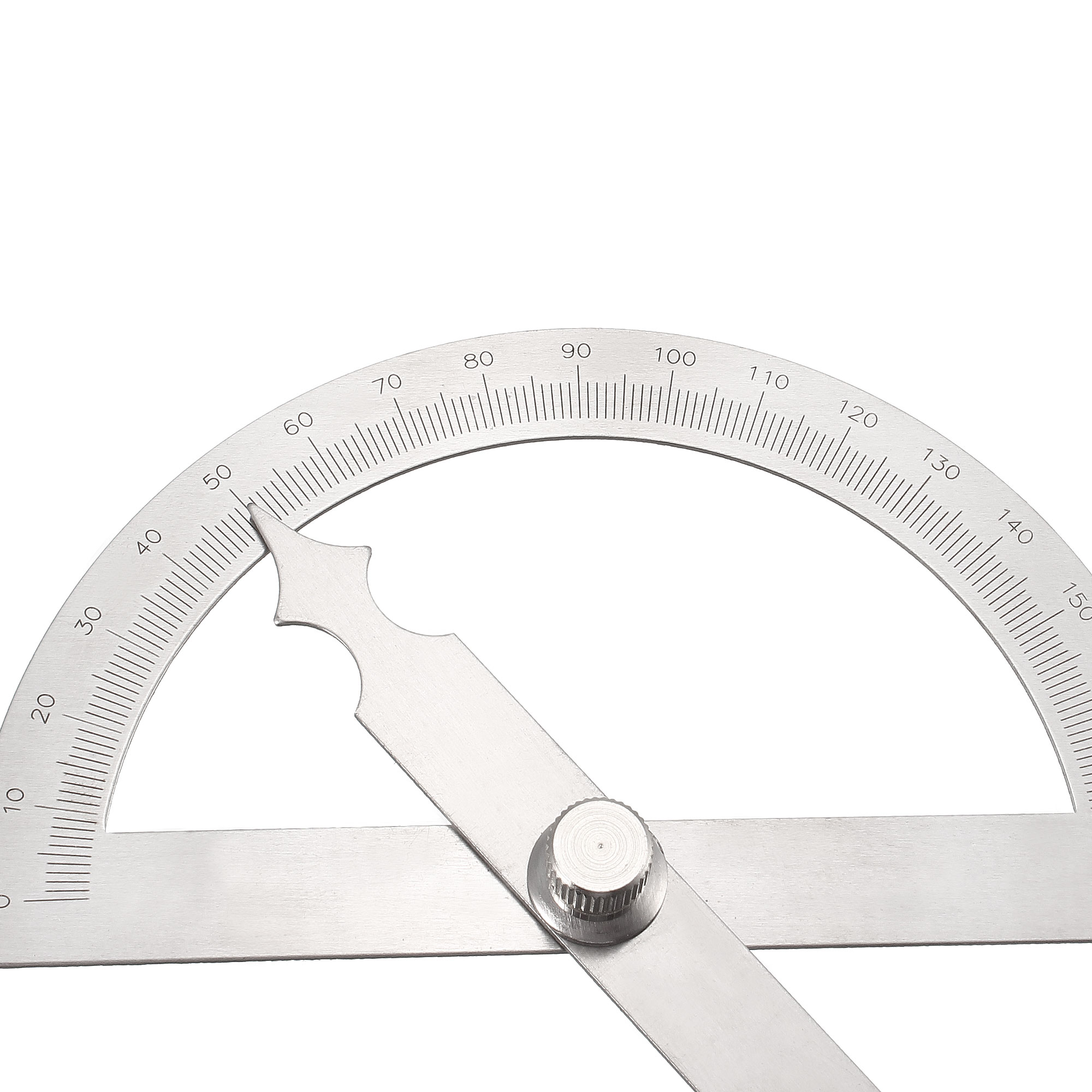 uxcell Protractor Angle Finder 0-180/° Round Head with 100mm Arm Measuring Ruler Tool Stainless Steel for Woodworking Drawing Architectural Design