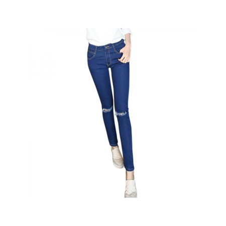 db9a239f783d1 Nicesee - Nicesee Women Slim Ripped Jeans Leggings Pencil Pants -  Walmart.com