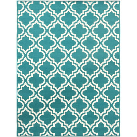Mainstays Fret Area Rug Available In Multiple Colors And
