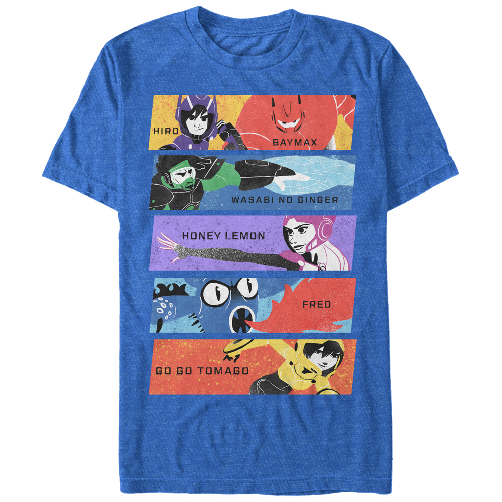 Big Hero 6 Men's Superhero Team Panels T-Shirt