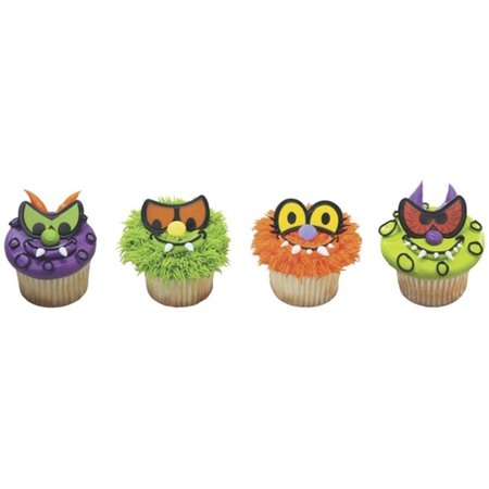 Halloween Scary Cakes (Halloween Scary Eyes Cupcake Rings - 24 Count - National Cake)