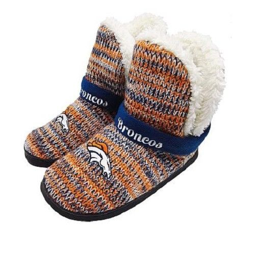 Denver Broncos Women's 2017 Peak Boot Slippers