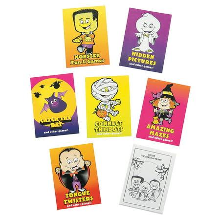 Fun Express - Halloween Fun & Game Books (6dz) for Halloween - Stationery - Activity Books - Activity Books - Halloween - 72 Pieces - Halloween Crafts And Games For Second Graders