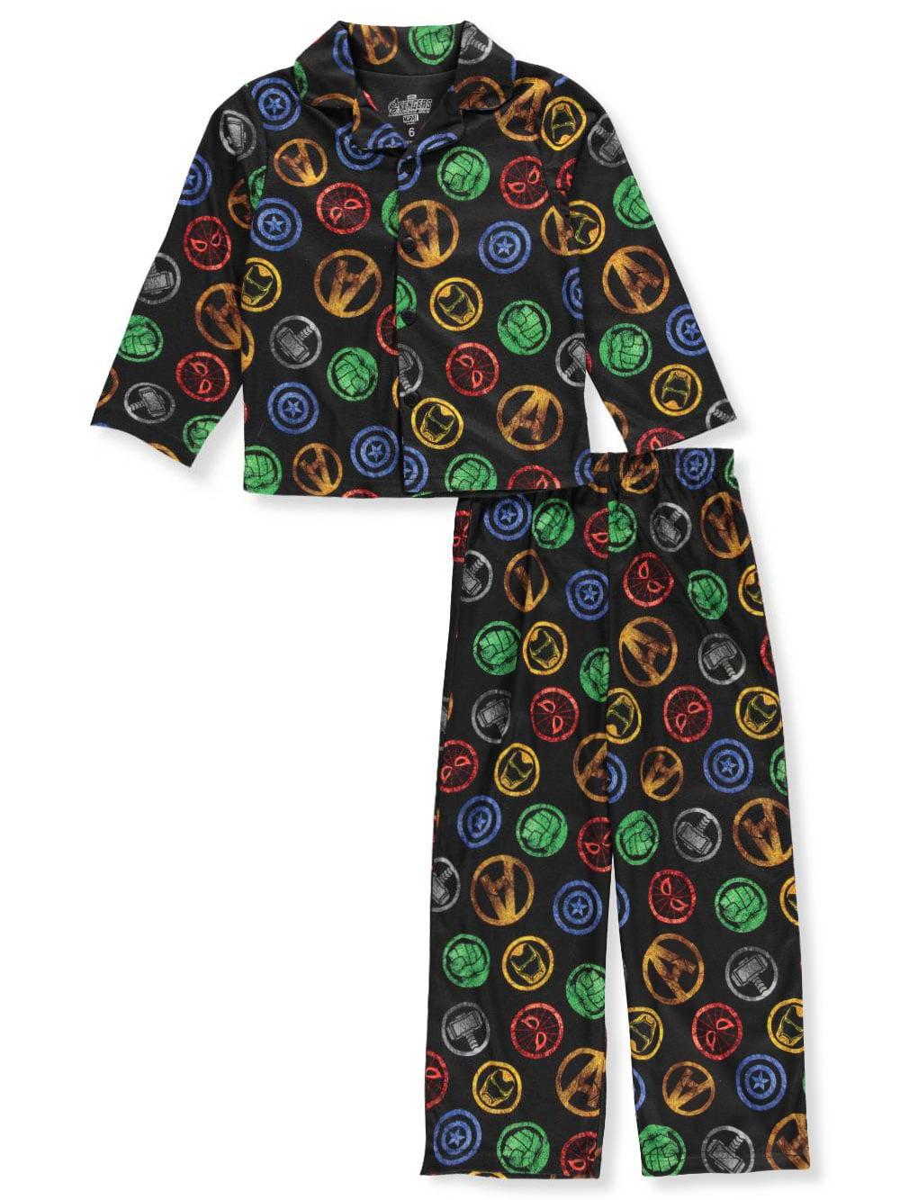 Marvel Boys 4-10 Avengers Coat Pajama Set