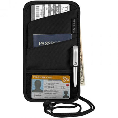 Travelon ID and Boarding Pass Holder - Black ID and Boarding Pass Holder