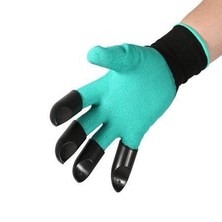 Walfront 1 Pair Garden Glove Digging Planting Safe Gardening Gloves