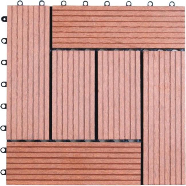 Naturesort N4-OT01SA1 Six Slats Bamboo Composite DIY Deck Tiles  11 tiles