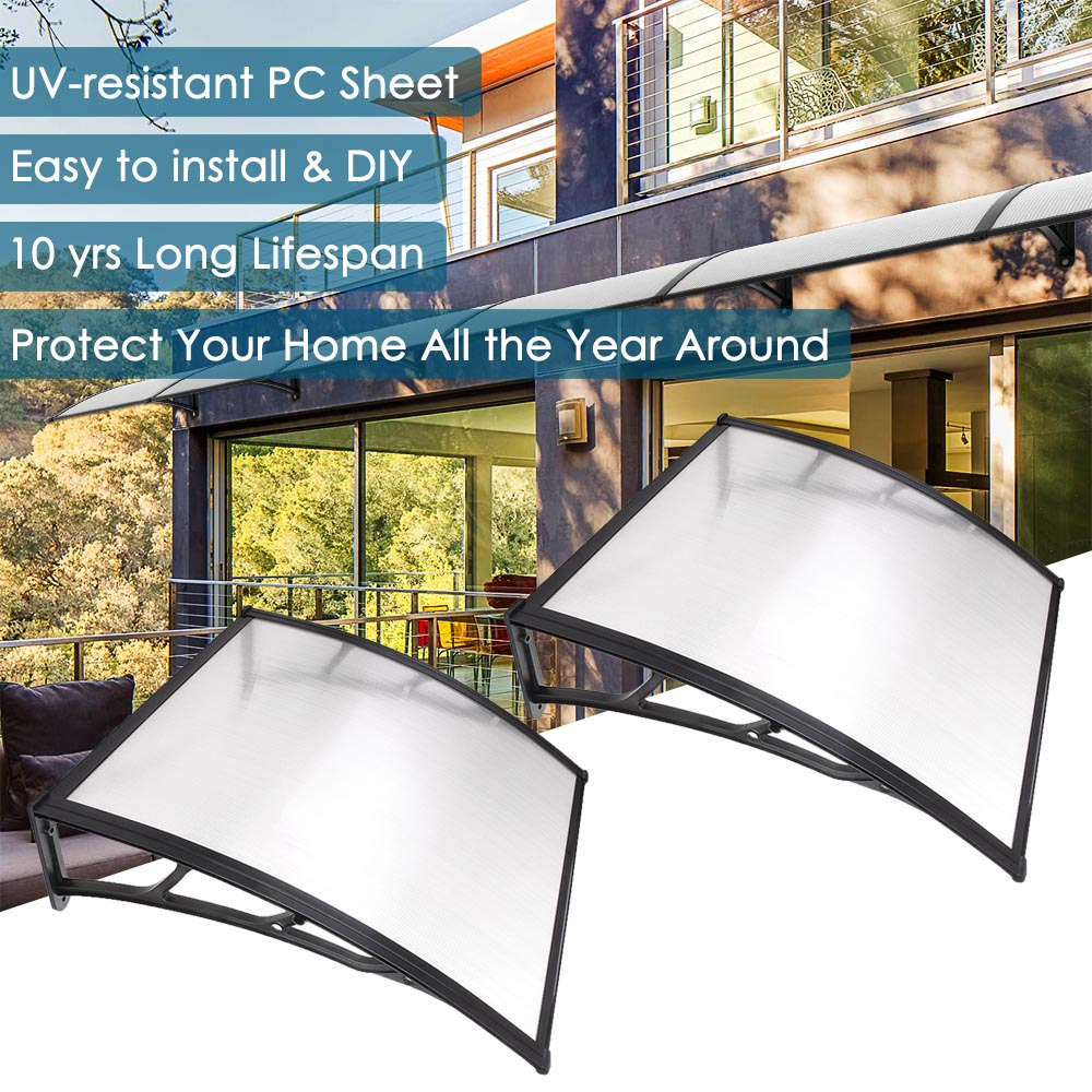 Yescom 39x39' Window Awning Door Canopy Patio Cover Protection 2 Set