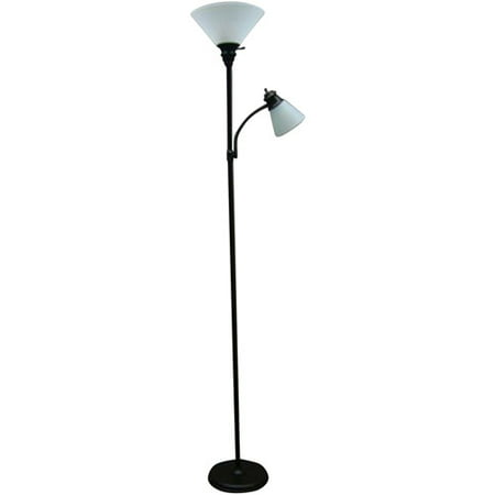 Mainstays Oil Rubbed Bronze Combo Floor Lamp With Reading Light