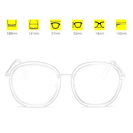 2186 Fashion Woman Man Sunglasses Stylish Oversize Glasses Hardening Eyewear - image 5 of 8