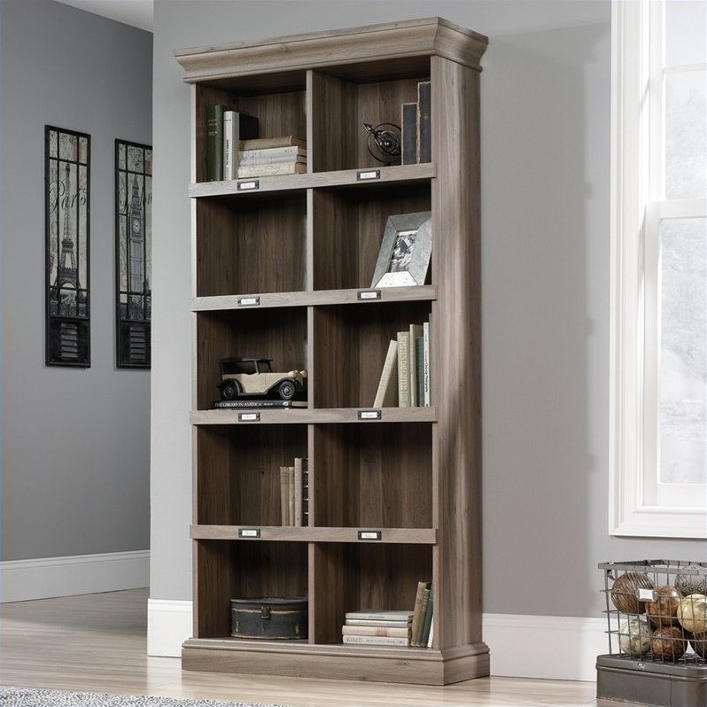 Sauder Barrister Lane Tall Bookcase in Salt Oak