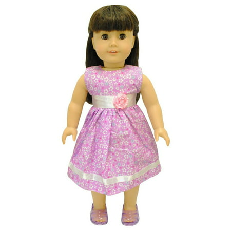 Doll Clothes - Flowers Dress Outfit Fits American Girl & Other 18