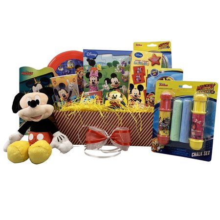 Basket Gift Ideas (Easter Gift Basket Idea for Kids XOXO Mickey themed Colorful Basket)