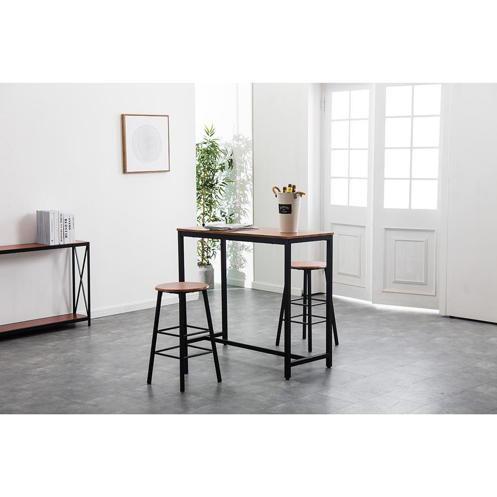 ktaxon high grade 3piece pub table set with 2 bar stools