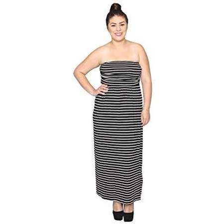 libian - libian jr plus size casual everyday striped tube top maxi ...