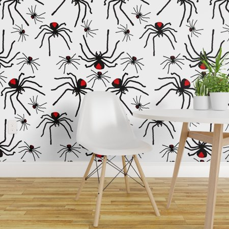 Happy Halloween Wallpaper Scary (Wallpaper Roll Creepy Spider Halloween Poison Insect Scary 24in x)